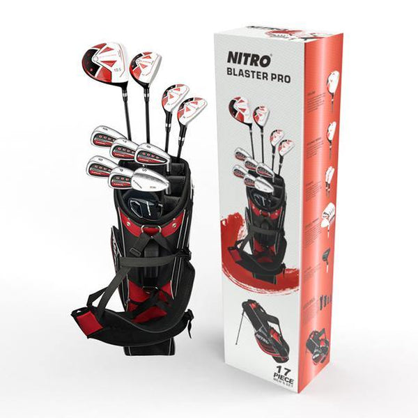 New Nitro Blaster Pro Men's 17 Piece Golf Club Set (LH) - Golf Balls Direct