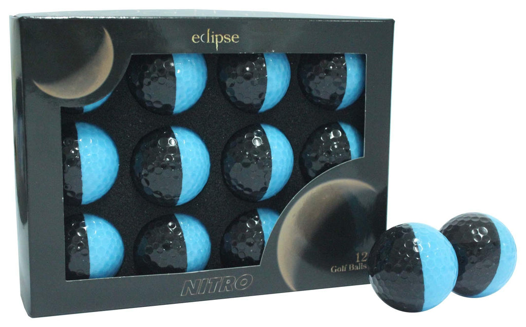 New Nitro Eclipse Golf Balls (Black/Medium Blue) - Golf Balls Direct