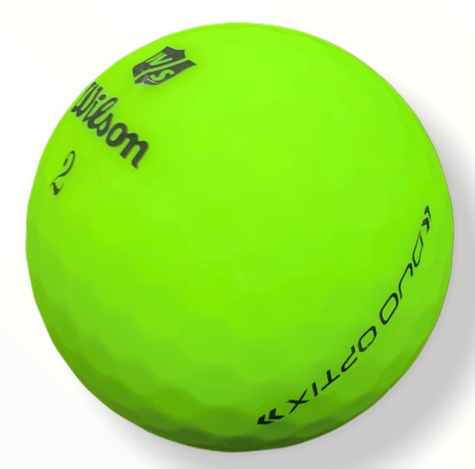 2020 Wilson Duo Optix Matte Green - Golf Balls Direct