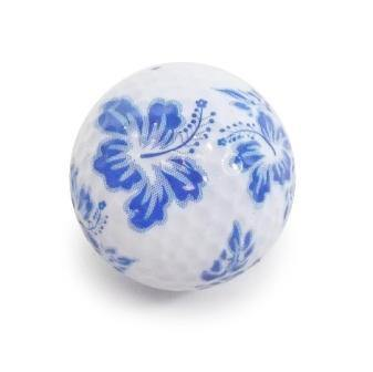 "New ""Blue Flower"" Novelty Golf Balls (3 pack) - Golf Balls Direct"