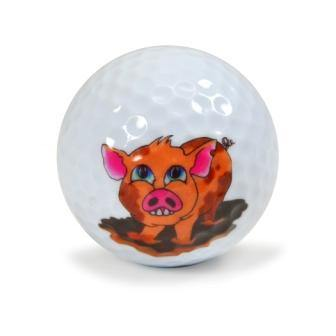 "New ""Happy as a Pig"" Golf Ball - Golf Balls Direct"