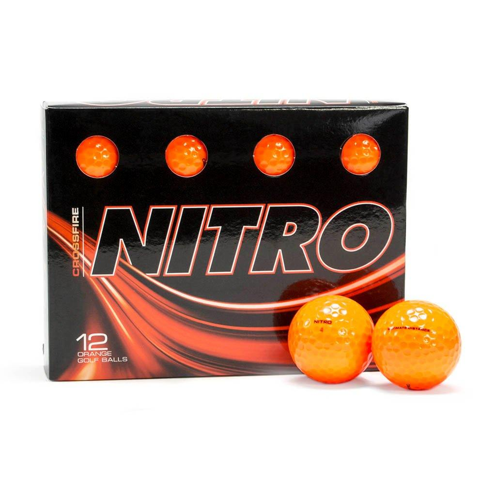 NEW Nitro Crossfire Orange Golf Balls - Golf Balls Direct