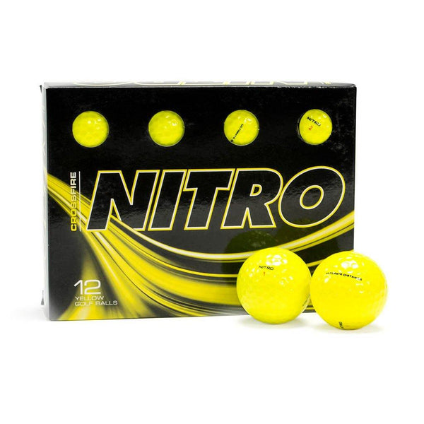 NEW Nitro Crossfire Yellow Golf Balls - Golf Balls Direct
