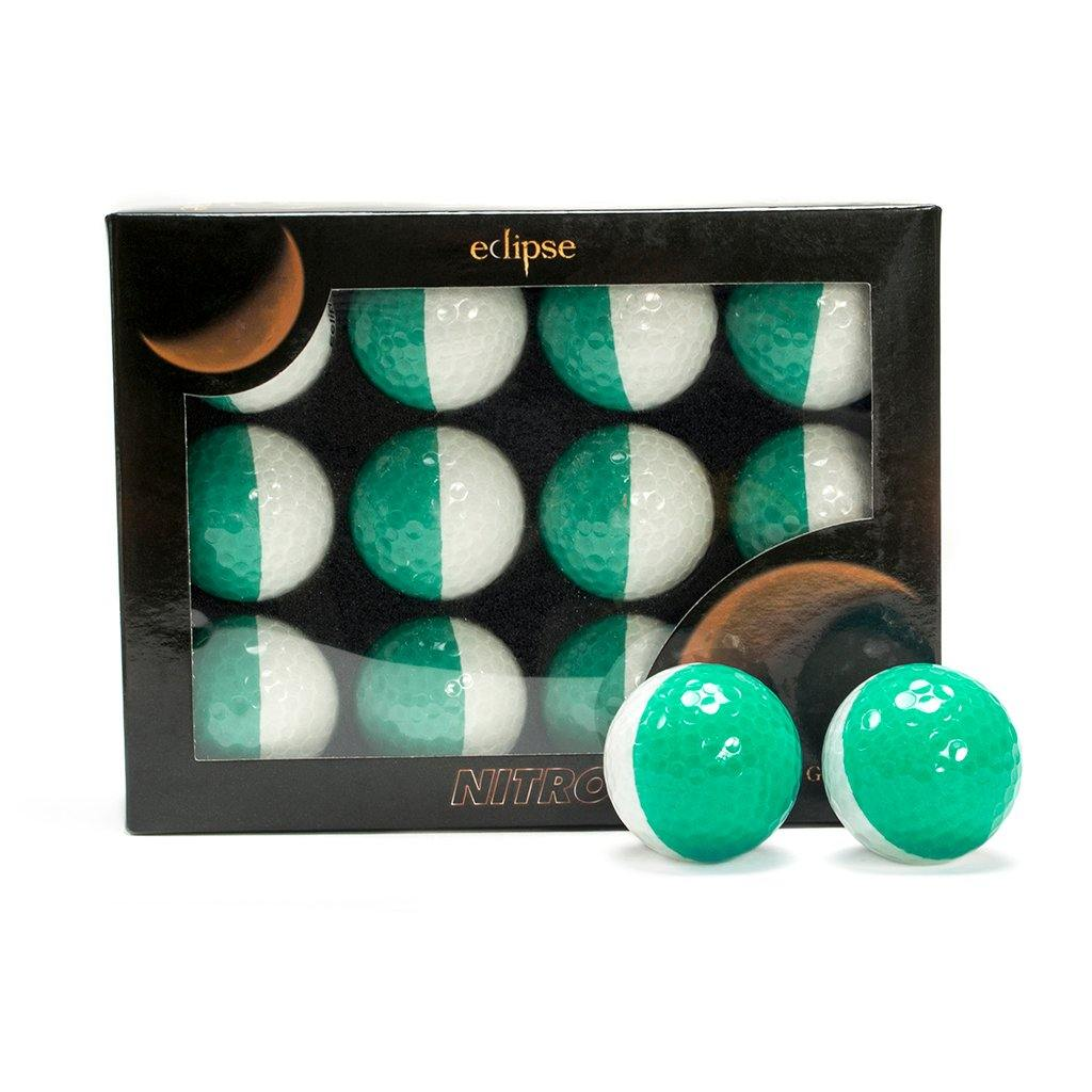 New Nitro Eclipse Golf Balls (White/Green) - Golf Balls Direct