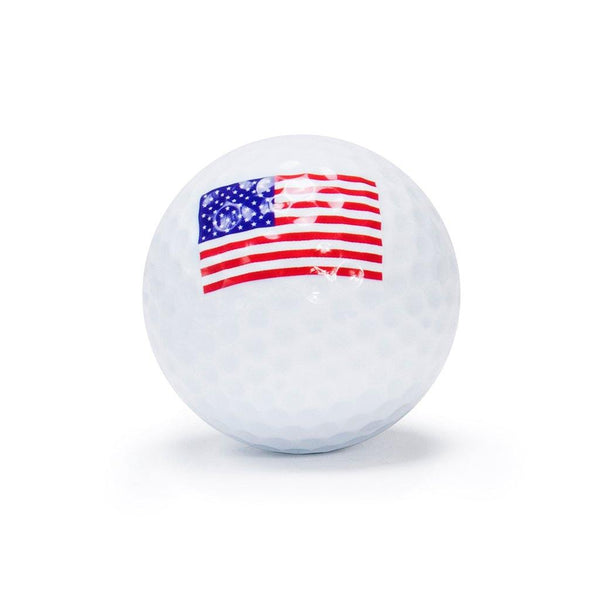"New ""Flag 3"" Novelty Golf Balls (3 pack) - Golf Balls Direct"