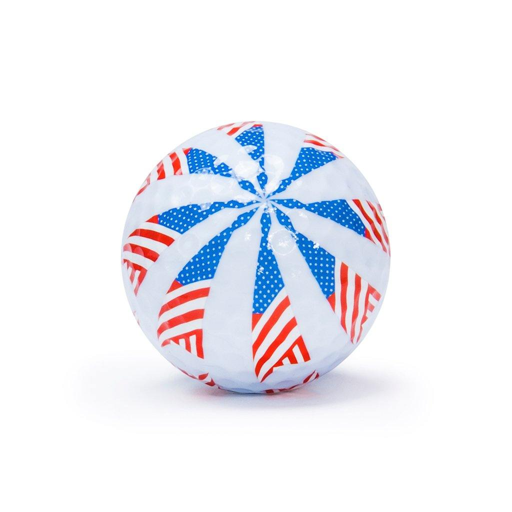 "New ""Flag 4"" Novelty Golf Balls (3 pack) - Golf Balls Direct"