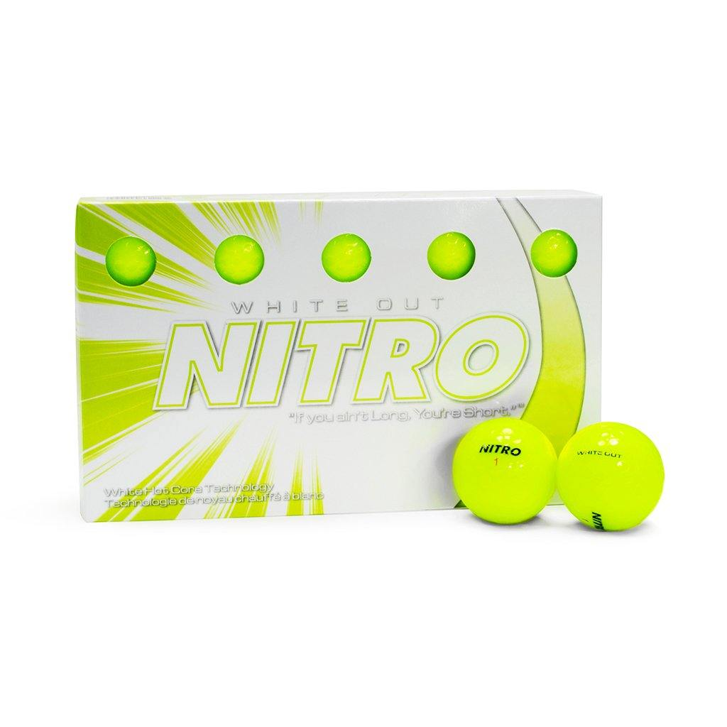NEW Nitro White-Out Yellow Golf Balls - Golf Balls Direct
