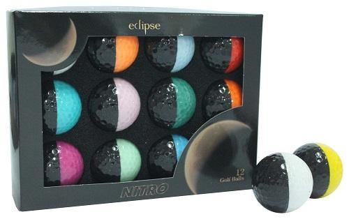New Nitro Eclipse Golf Balls (Black/Multi-Color) - Golf Balls Direct
