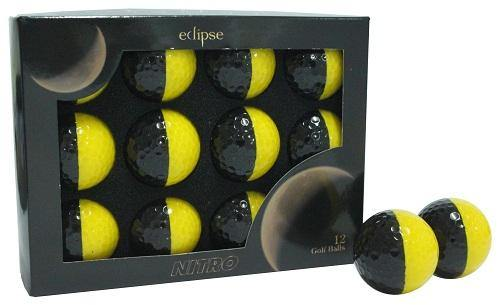 New Nitro Eclipse Golf Balls (Black/Yellow) - Golf Balls Direct