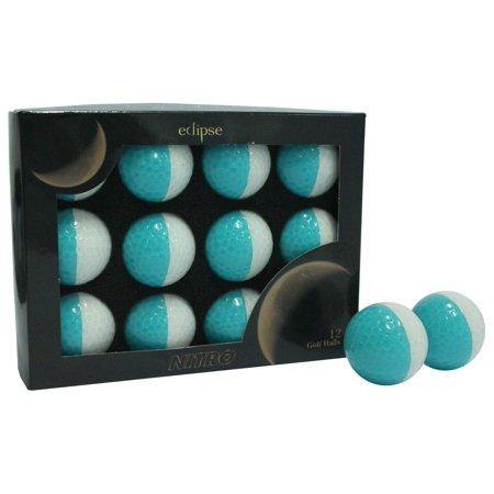 New Nitro Eclipse Golf Balls (White/Teal) - Golf Balls Direct
