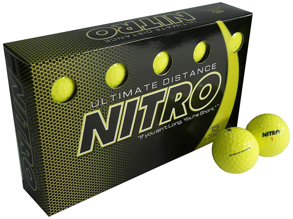 NEW Nitro Ultimate Distance Yellow Golf Balls - Golf Balls Direct