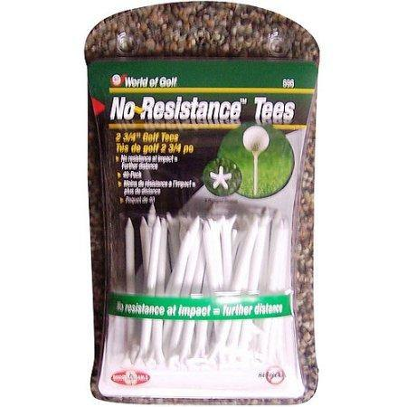 "2 3/4 "" White No Resistance Tees - Golf Balls Direct"