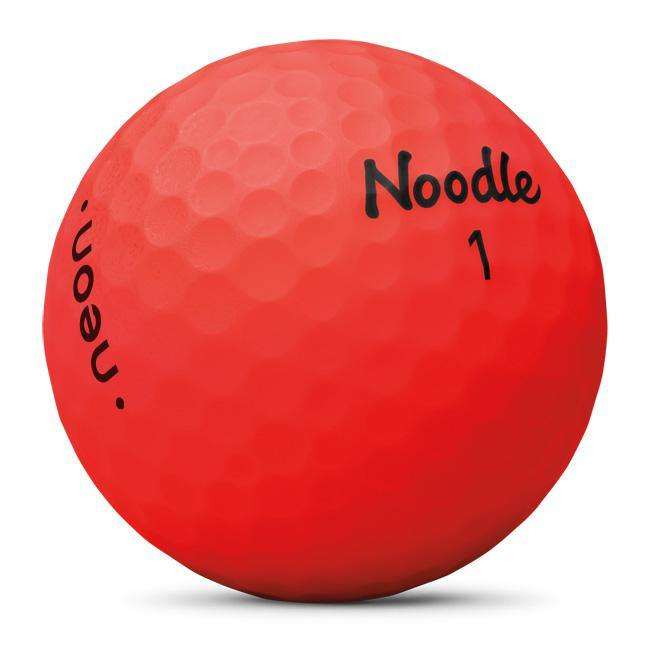 2019 Noodle Neon Matte Red - Golf Balls Direct