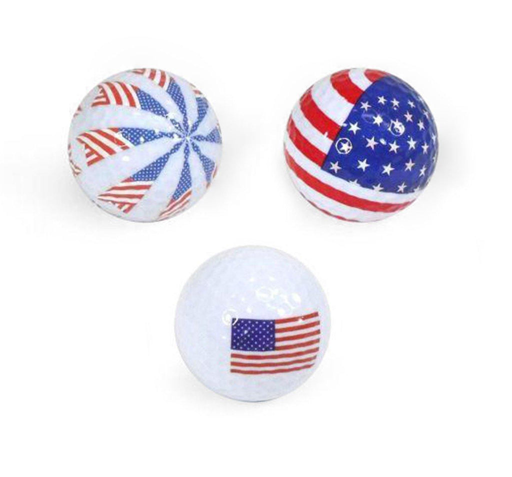 "New ""Patriotic"" Mix of Novelty Golf Balls - Golf Balls Direct"