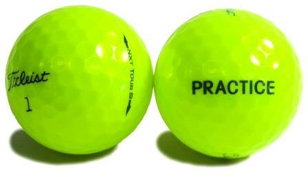 New Titleist NXT Tour S Yellow Practice (logo Overruns) - Golf Balls Direct