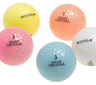 Used Volvik Crystal Colored Golf Balls
