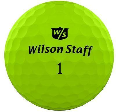 Used Wilson Duo Soft Matte Green Colored Golf Balls