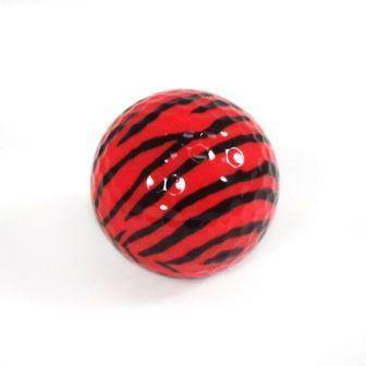 "New ""Red Zebra"" Novelty Golf Balls (3 pack) - Golf Balls Direct"