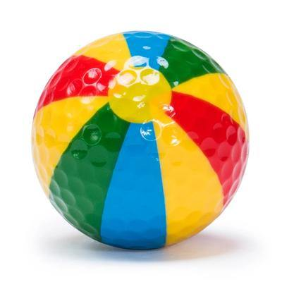 "New ""Beach Ball"" Novelty Golf Balls (3 pack) - Golf Balls Direct"