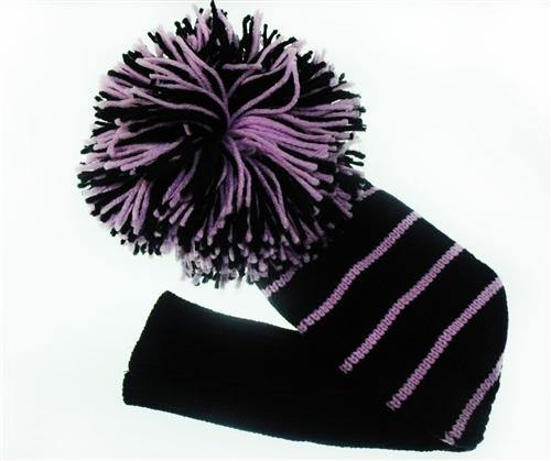 Head Cover Black/Purple - Golf Balls Direct
