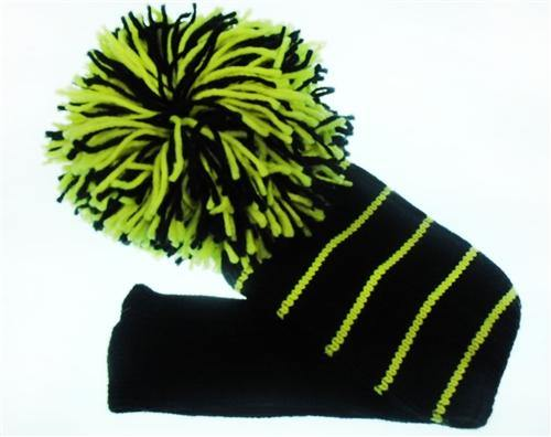 Head Cover Black/Yellow - Golf Balls Direct