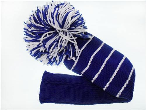 Head Cover Blue/White - Golf Balls Direct