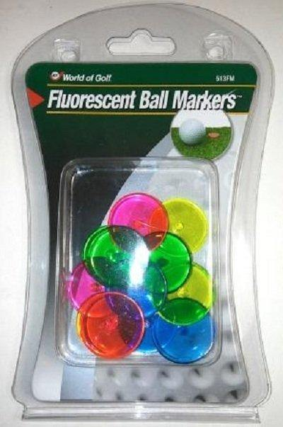 Fluorescent Ball Markers - pack of 12 - Golf Balls Direct