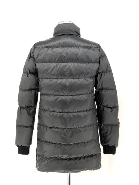 DYED BLACK MINK WITH FOX PUFFER JACKET