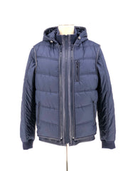 DYED NAVY SHEARLING MENS JACKET