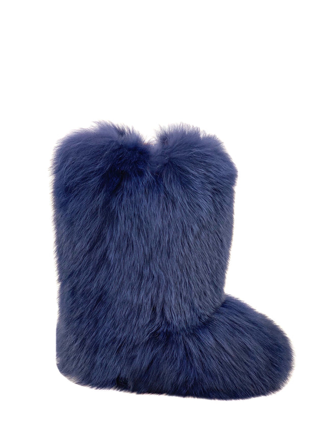 Dyed Navy Fox Boots