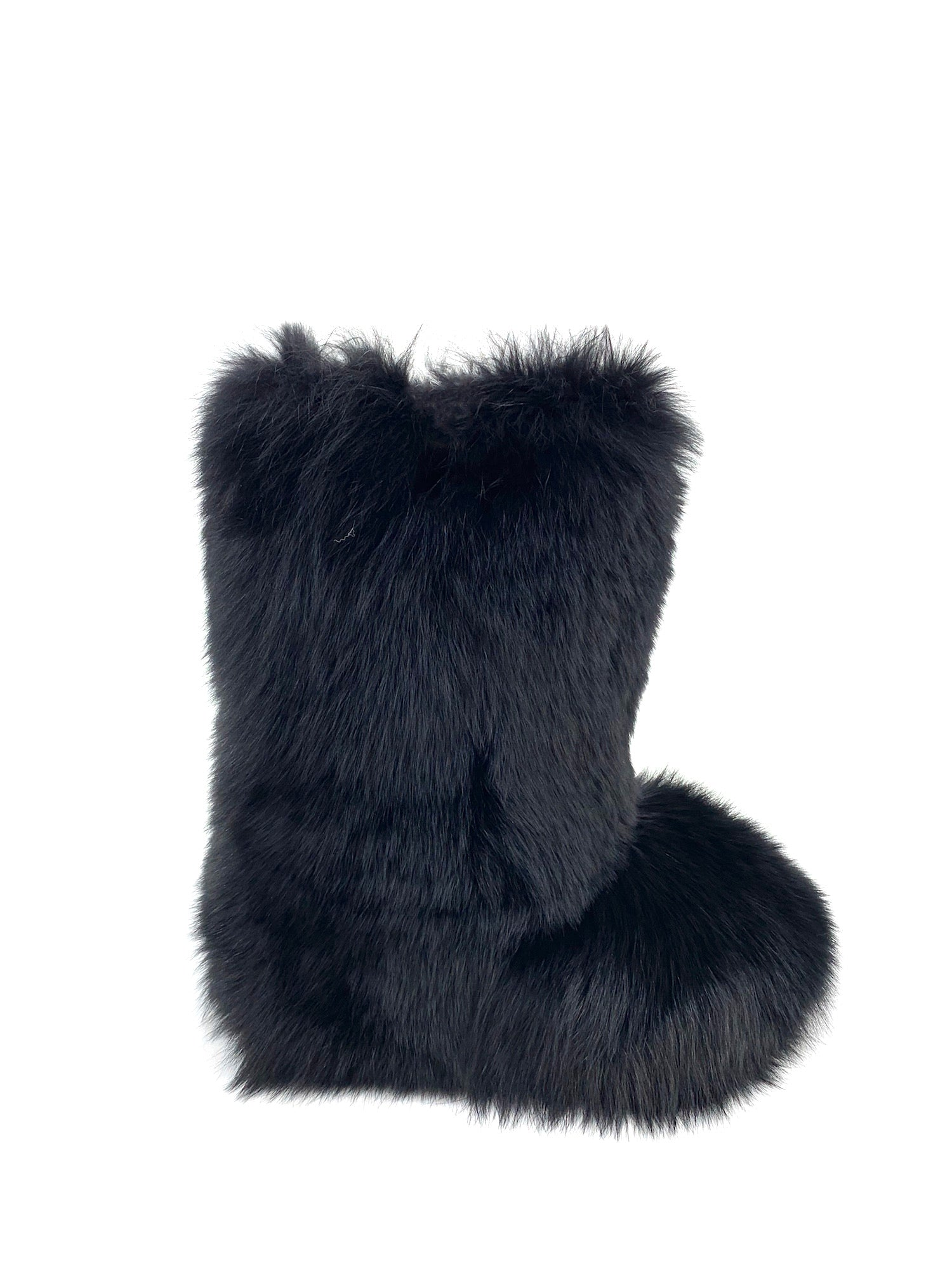 Dyed Black Fox Boots