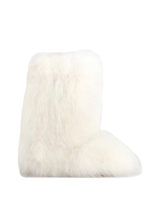 Bleached White Fox Boots
