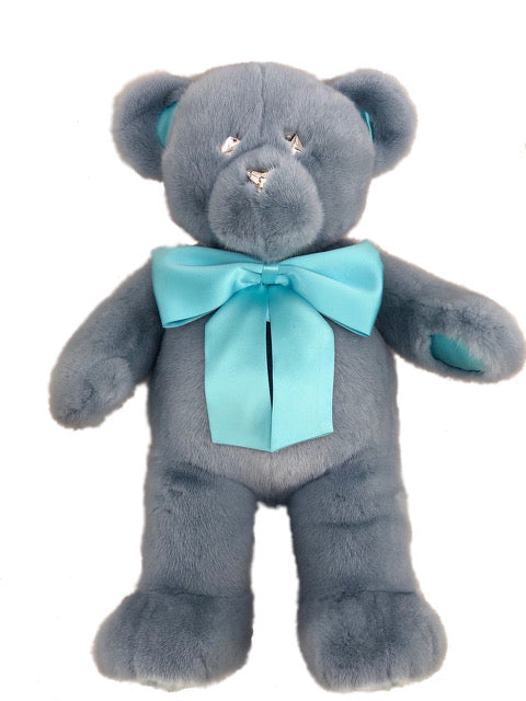 BABY BLUE MINK TEDDY BEAR LARGE