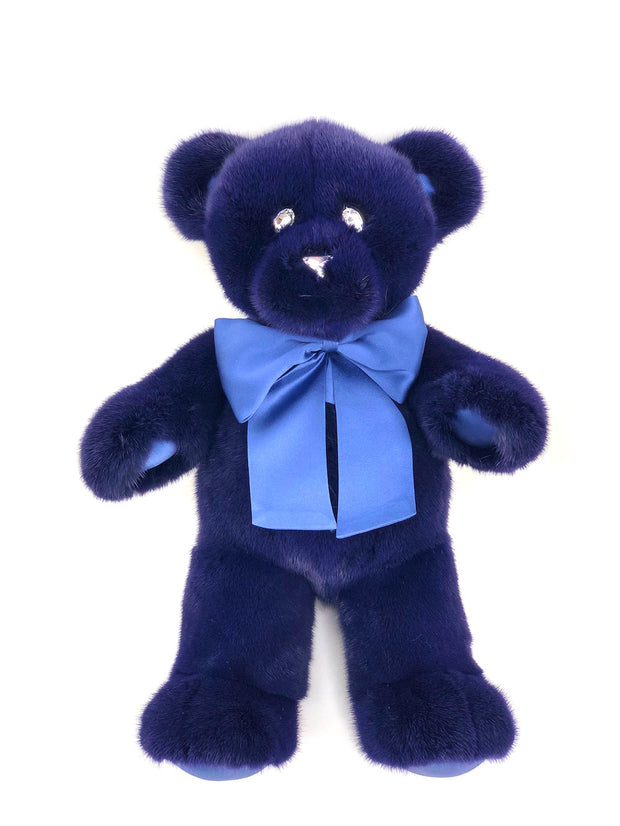 NAVY MINK TEDDY BEAR SMALL