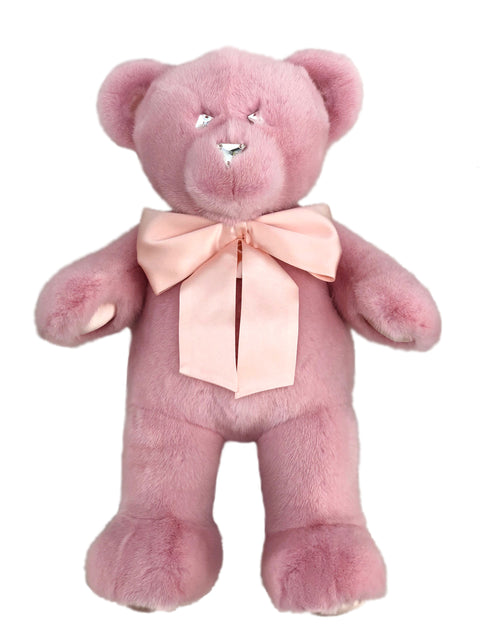ROSE PINK MINK TEDDY BEAR LARGE