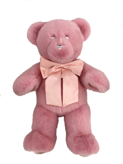 ROSE PINK MINK TEDDY BEAR SMALL