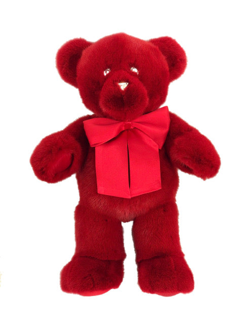 RED MINK TEDDY BEAR SMALL