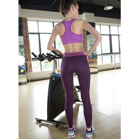 High Waist Elastic Workout Legging - Wearmeal