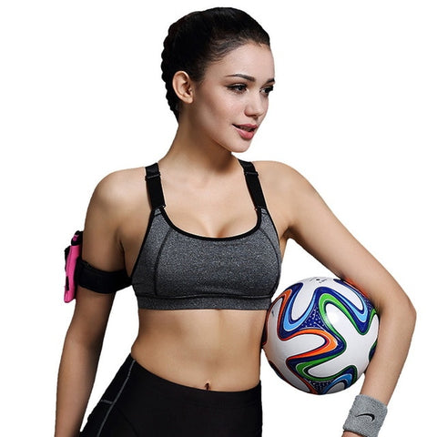Nylon Polyester Padded Push Up Sports Bra - Wearmeal