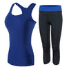 Patchwork Polyester Fitness Yoga Set - Wearmeal