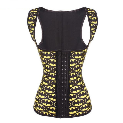 Bat Pattern Latex Vest Waist Trainer - Wearmeal