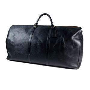 Vintage Louis Vuitton EPI Black Keepall Duffle Bag
