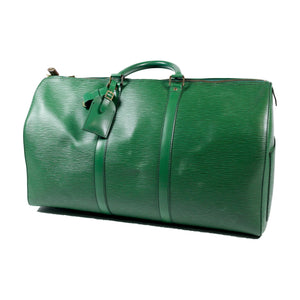 Vintage Louis Vuitton EPI Green Keepall