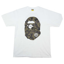 Load image into Gallery viewer, Bape Green Camo Head Tee White