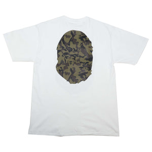 Bape Green Camo Head Tee White
