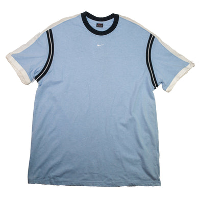 Vintage Nike Mini Swoosh Blue T Shirt