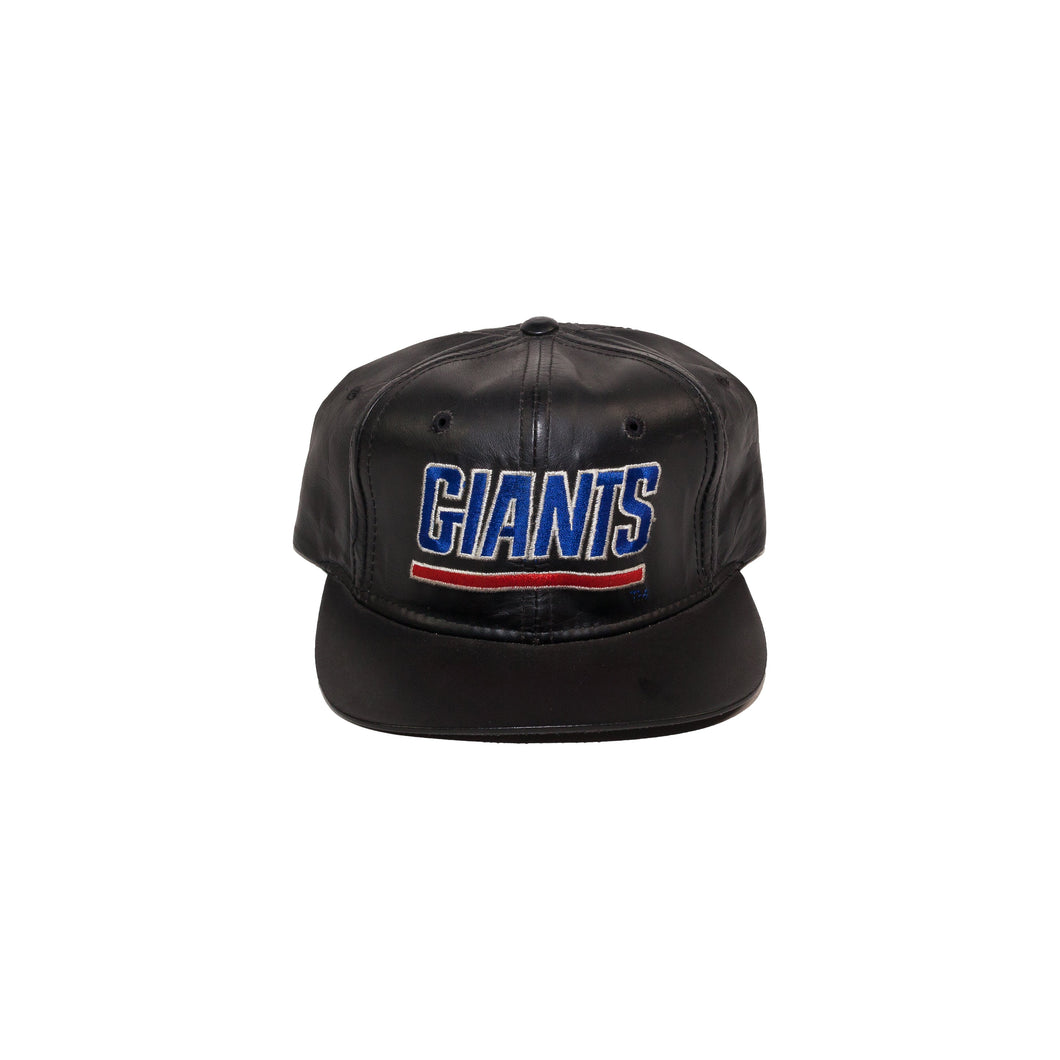Vintage New York Giants Leather Scrip Strapback