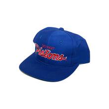 Load image into Gallery viewer, Vintage Detroit Pistons Script Snapback