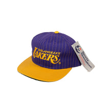 Load image into Gallery viewer, Vintage LA Lakers Pinstripe Snapback