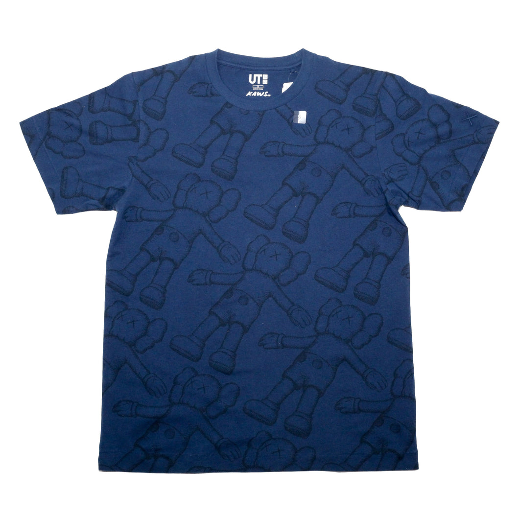 KAWS Companion Navy All Over Print T